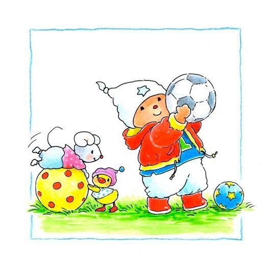 Muursticker Baby Bobbi als VoetballerAfmeting:25 x 25 cm - Muursticker Baby Bobbi als Voetballer