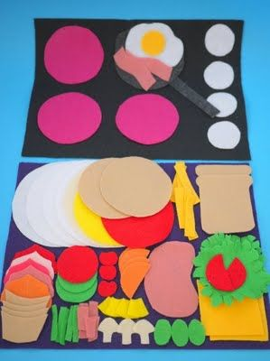 """At the cafe"" felt play mats"