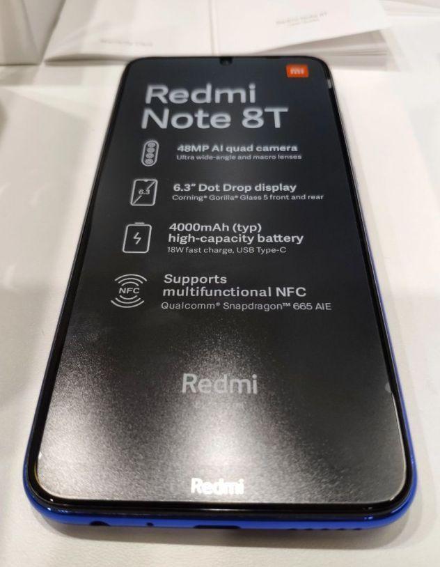 تسريبات مصورة حية لهاتف شاومي القادم Redmi Note 8t Notes