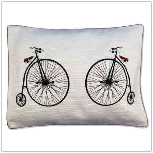 """Penny Farthings"" Baby Pillow, baby gift, baby shower, baby birthday,christening gift,baby baptism,receiving,nursery cushion, nursery decor,baby room"