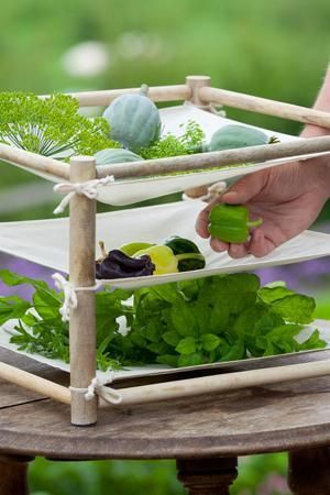 What a simple, yet  lovely, rack for drying herbs and seeds. :)