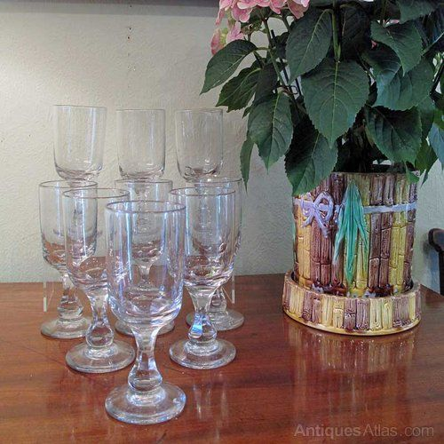 Antiques Atlas - A Set Of 8 Victorian Wine Glasses