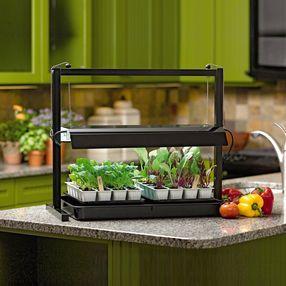 Compact Tabletop Sunlite Indoor Grow Lights Herb Garden 400 x 300