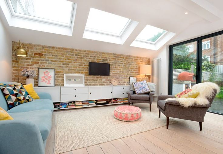 Stroud Green, N5, London, Side Return Extension, Kitchen Extension, Ground Floor Flat Extension, Bi-Fold Doors, Kitchen, Rear Extension, Roof-lights, Pitched Roof, Side Return Ideas, Kitchen Extension Ideas, Dining Area Ideas, Living Area Ideas, Open Plan Living, Exposed Brick