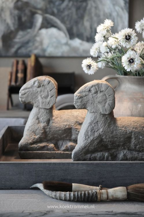 #goatvet likes these statues of goats from ArtPropelled