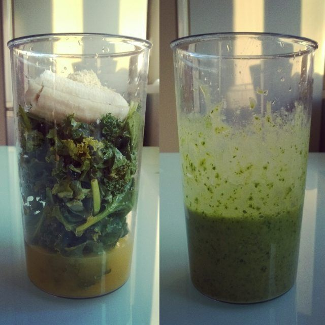 #kale #spinach #orangejuice #banana #green #eatclean #cleaneating #czysta_micha