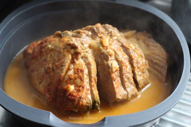 O Meu Report... culinário e não só!: Lombo de Porco na Varoma ✶ Bimby Thermomix