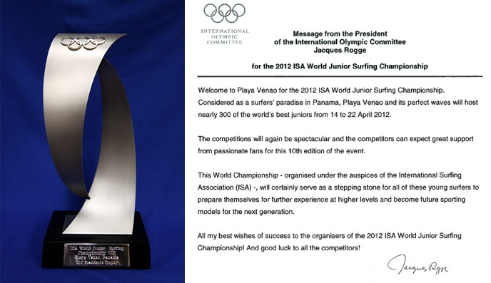 IOC Honors Gold Medal Winning Surfing Team in Panama