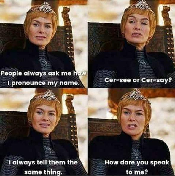 Cersei got no chill  Check out our Game of Thrones Merch Store: https://thinkgot.com    #winteriscoming #gameofthrones #GoT #gameofthronesfamily #jonsnow #instalike #f4f #like #gameofthroneshbo #gameofthronesfan #gameofthronesmemes #westeros #got7 #khaleesi #housestark #nightswatch #youknownothingjonsnow #asongoficeandfire #stark #lannister #daenerystargaryen #targaryen #daenerys #sansastark #tyrionlannister #motherofdragons #housestark #winterfell #jaimelannister