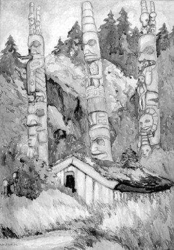 'Haida Totems' / Emily Carr / B.C. Archives / PDP00612