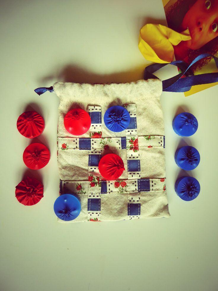 Tic Tac Toe  Jogo do Galo kids favor gift Lembrança de Aniversário  #TicTacToe #Fabric #Game