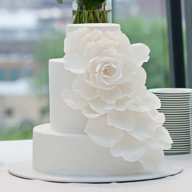 Simple White Wedding Cake Mrs.Hamilton Pinterest