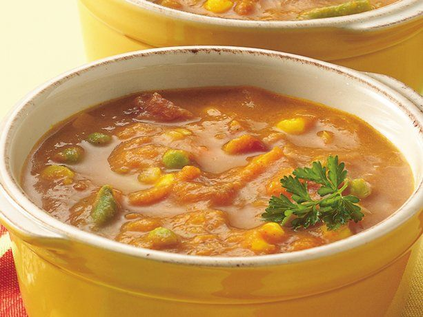 Healthy Curried Pumpkin-Vegetable Soup | Recipe