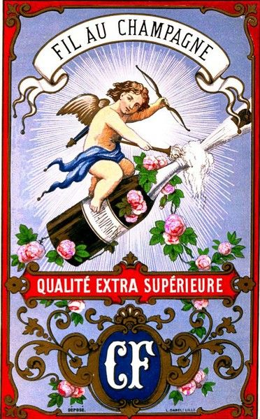 C.F. [Vve C. Crespel et Fils], Au champagne. (BM Lille / 43662-432)
