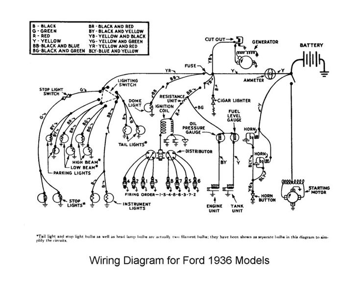 1936 ford headlight switch wiring