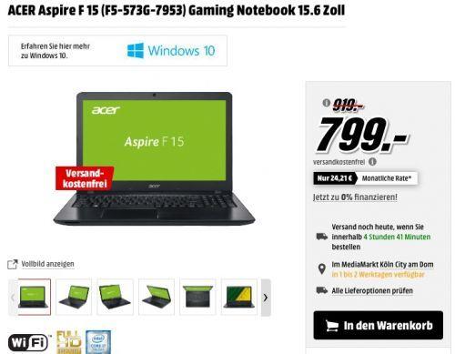 ACER Aspire F 15 (F5-573G-7953) Notebook - jetzt 13% billiger