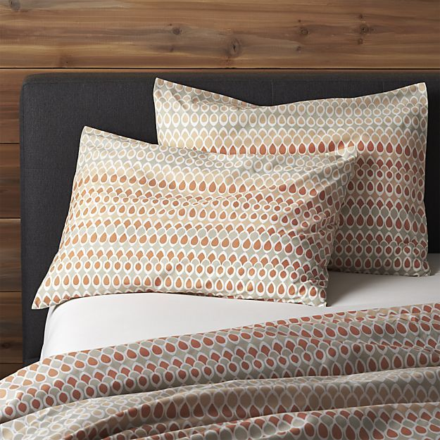 Set of Two Banjara Standard Shams in Duvet Covers & Duvet Inserts | Crate and Barrel