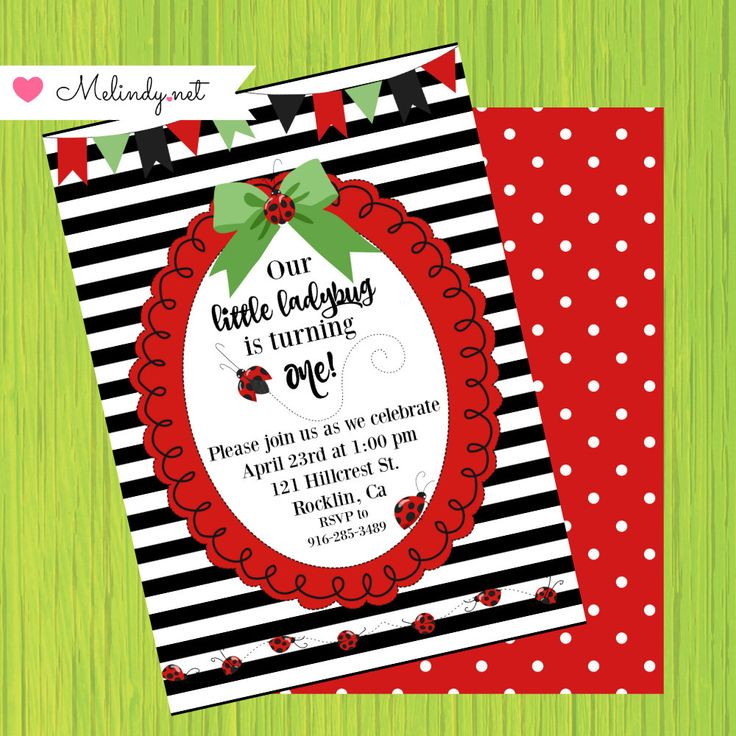 Little Ladybug Printable Birthday Party! by MelindyDesigns on Etsy