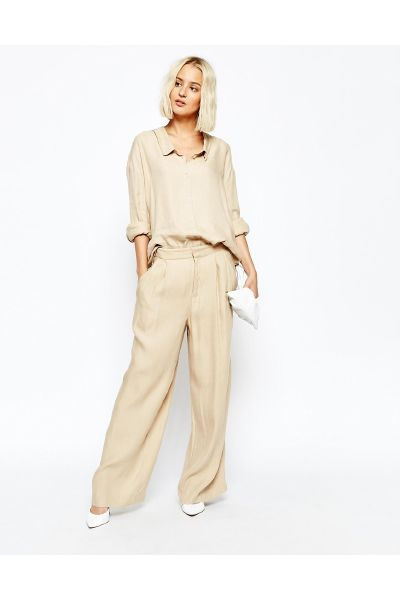 Weekday Slouchy Linen Casual Trousers - The Fashion