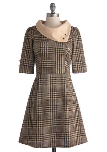 Parisian Port Dress in Houndstooth #modcloth #ad *classic