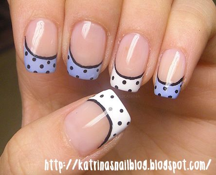 cute: French Design Nails, Design Nails Art, French Manicures, Nails Design, Polka Dots Nails, New Nails, Nails Art Design, French Nails, Art Nails