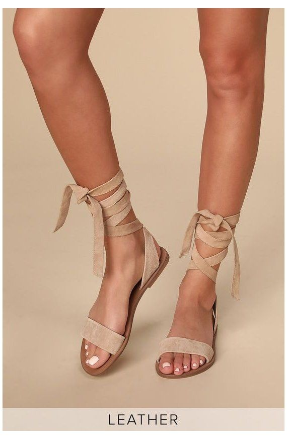 Reputation Taupe Suede Leather Lace-Up