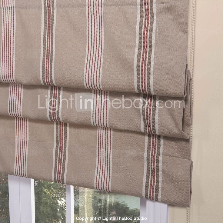29 Best Roman Blinds By Tonic Living Images On Pinterest: Classic Country Striola Pattern Roman Shade