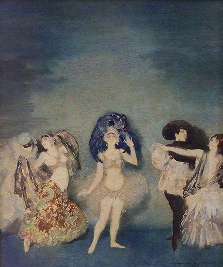 Norman Lindsay Dancers In Costume 1917  watercolour Copyright © Norman Lindsay
