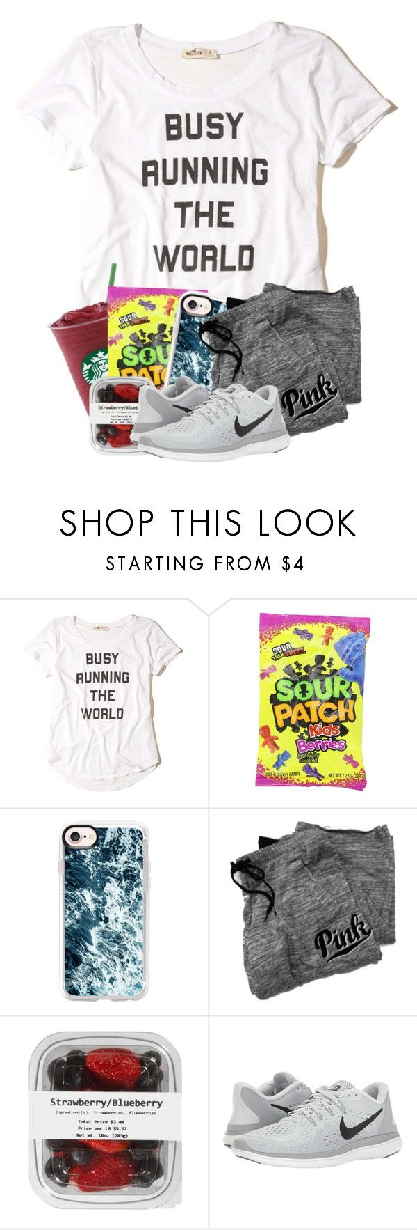 """OOTD : I have a basketball game today. . ."" by meinersk45195 ❤ liked on Polyvore featuring Hollister Co., Casetify, Victoria's Secret and NIKE"