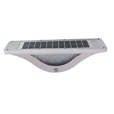 kikigoal luces de sensor de movimiento solar LED de pared para exteriores Luz Jardín Luz entrada Caminos Driveway Patio Jardín Cubierta de patio Valla Seguridad Lámpara Luz, Moderno, Blanco