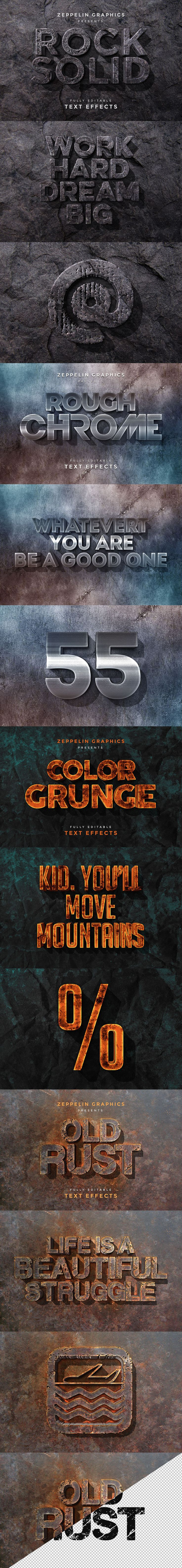 3D Text Effects Bundle - Dealjumbo.com — Discounted design bundles with extended license!