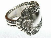 Spoon ring: Fork Ring, Silverware Ring, Diy Gift, Spoon Rings, Handmade Gift, Ring Tutorial