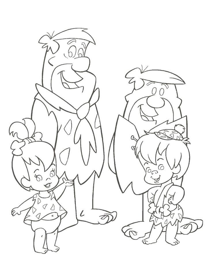 Bam bam flintstones coloring pages coloring pages for Flintstones coloring pages