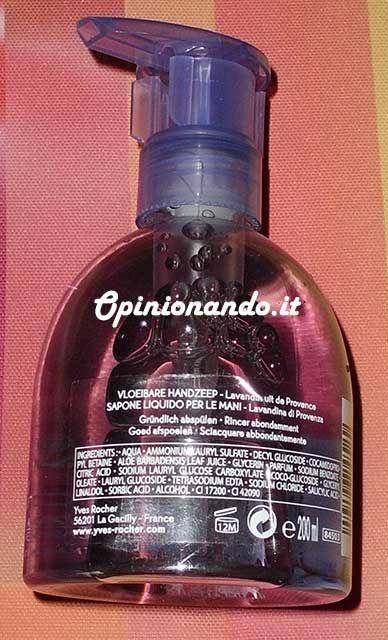 Yves Rocher Sapone Liquido Lavandina di Provenza INCI - #Opinionando #Recensione