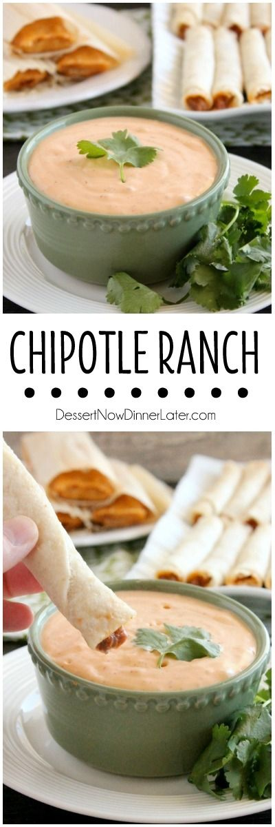 This 4 ingredient Chipotle Ranch makes a delicious dip or dressing! on MyRecipeMagic.com
