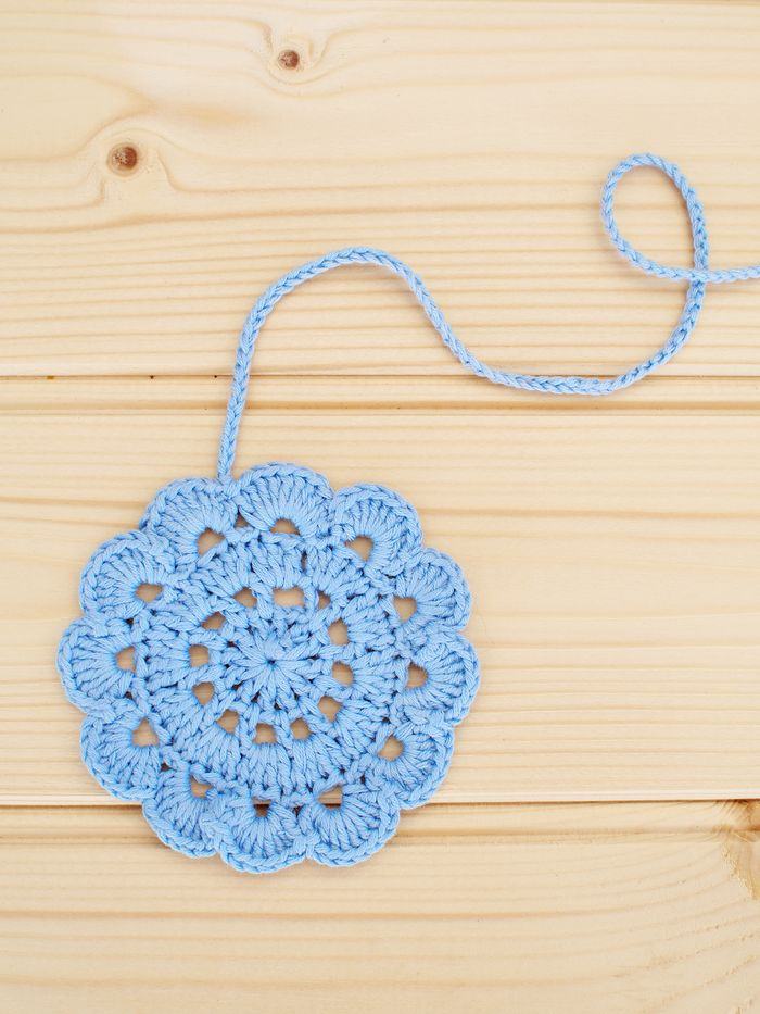Crochet flower, free pattern