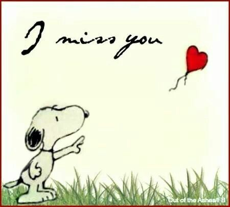 I miss you - Snoopy