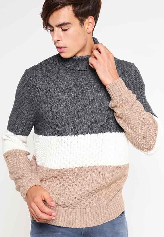 Herenmode, Lacoste LIVE Trui met streep patroon en col kraag MEER http://www.pops-fashion.com/?p=31192