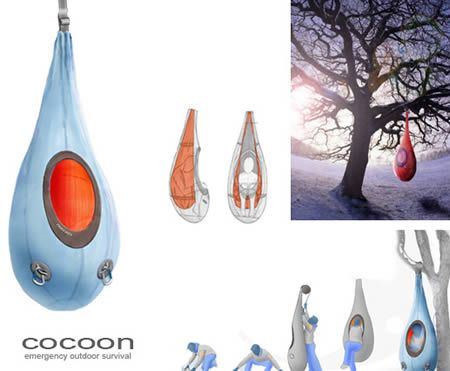 A sleeping bag that hangs from a tree! Would you take this to a festival?
