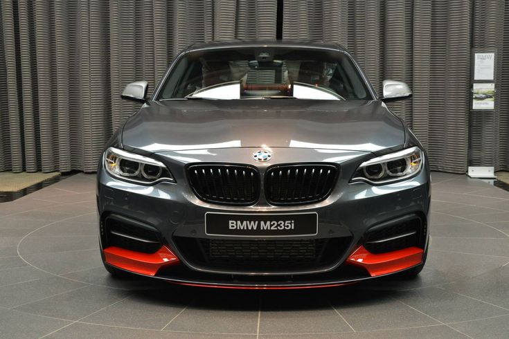 BMW M235i with M Performance Parts: Mineral Grey meets Red - http://www.bmwblog.com/2014/10/09/bmw-m235i-m-performance-parts-mineral-grey-meets-red/