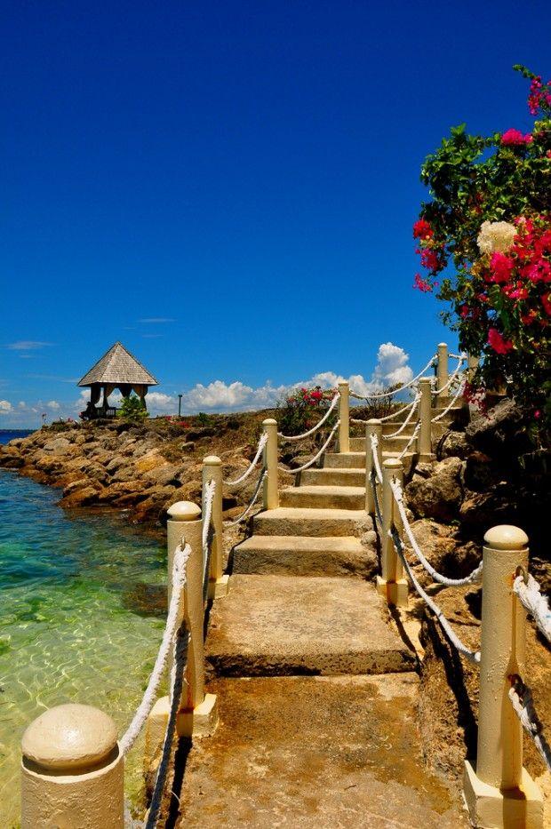 Shangri-la's Mactan Resort & Spa in Cebu, Philippines, offers a luxurious beach escape.