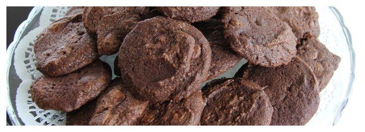 Dubbele chocoladekoekjes (met zeezout)