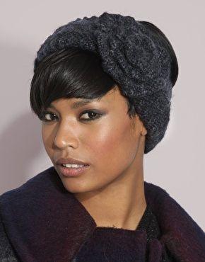 hair and knit headband