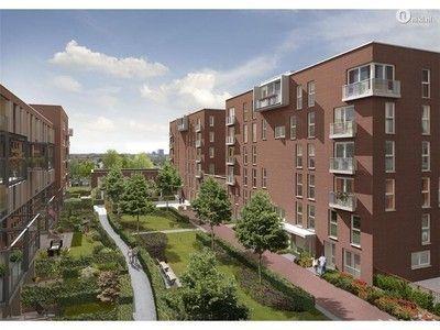 Ten zuiden van de Veilinghaven ligt het plangebied. De appartementen op de foto worden als voorbeeld gebruikt voor het ontwerp voor de rest van de wijk. (Pascal & Jos)