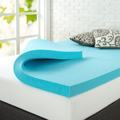 "Alwyn Home 3"" Gel Memory Foam Mattress Topper Size: Queen"