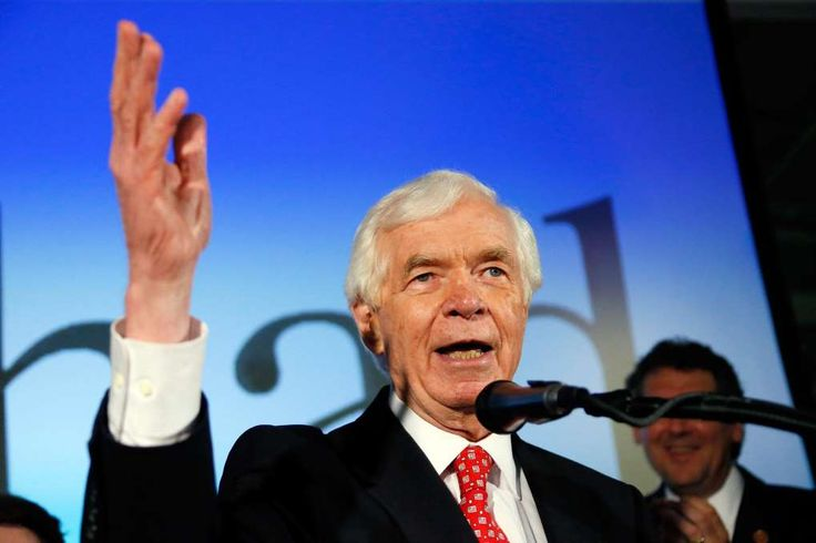Double-barreled Bannon: He targets both Mississippi GOP senators   -  November 25, 2017.   Image: U.S. Sen. Thad Cochran, R-Miss., addresses supporters and volunteers at his runoff election victory party Tuesday,U.S. Sen. Thad Cochran, R-Miss., addresses supporters at his election party in 2014 after he defeated state Sen. Chris McDaniel in a primary runoff for the GOP nomination.