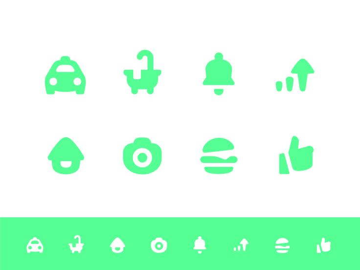 chubby icon set by Liyangzi #icon #icondfesign #iconset #iconography #symbols