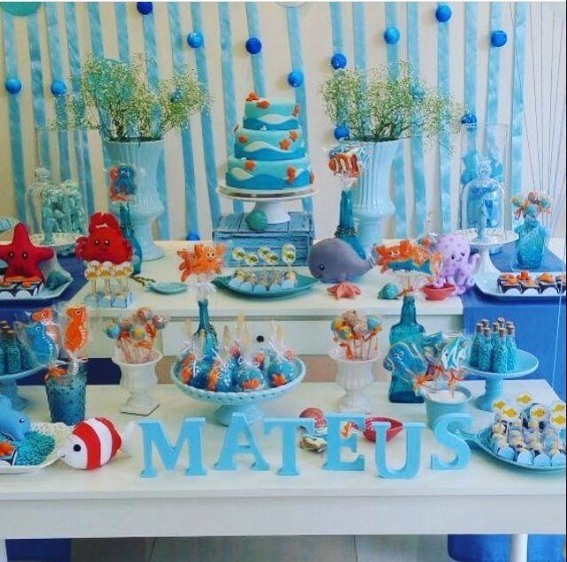 Festa de um aninho muito delicada decorada por Party Charm Festas ( contato@partycharm.com.br) com nossos bichinhos de feltro! Fizemos polv...