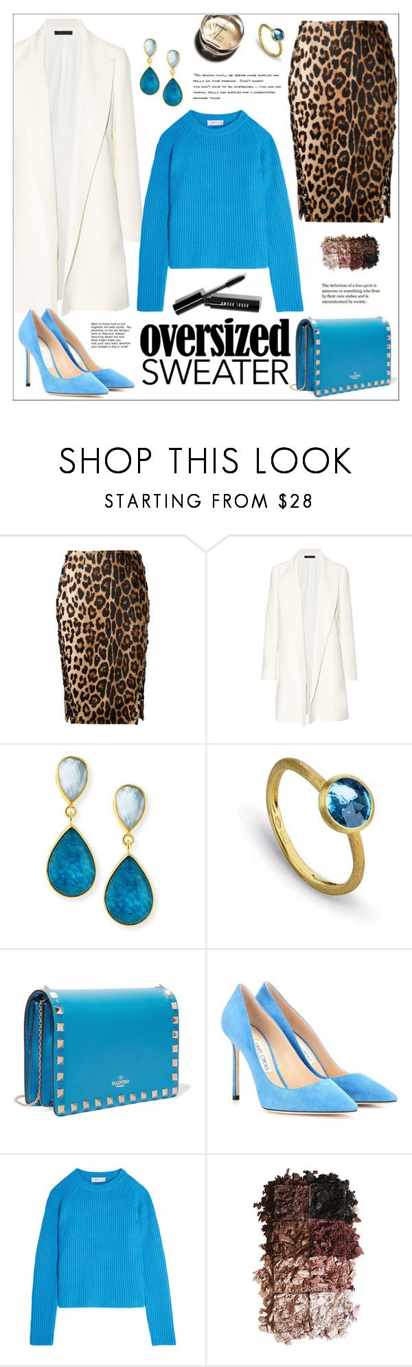"""""""Fall Sweater"""" by ms-mandarinka ❤ liked on Polyvore featuring Altuzarra, The Row, Dina Mackney, Marco Bicego, Valentino, Jimmy Choo, Carven, LORAC, Chanel and Bobbi Brown Cosmetics"""