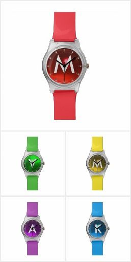 COLORFUL  GEMSTONES MONOGRAM WATCHES COLLECTION #gemstones #fashion #watch #accessory #gems #3d #geek #tech